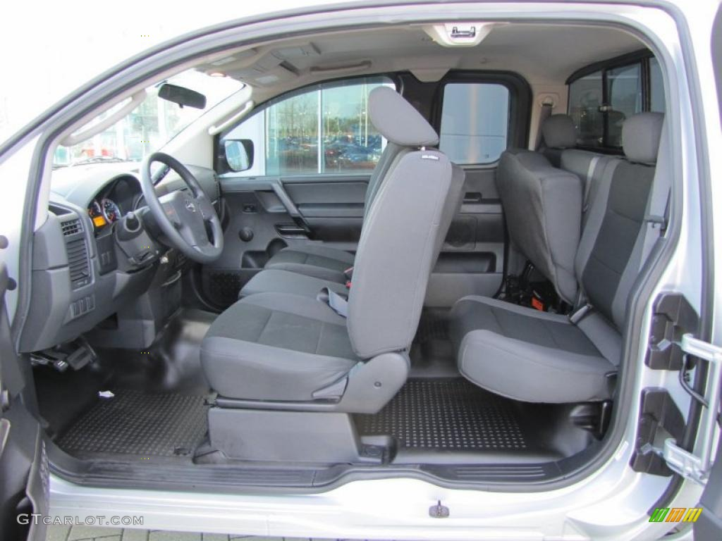 Charcoal Interior 2010 Nissan Titan Xe King Cab Photo