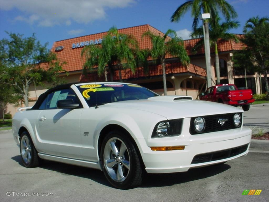 Performance white ford mustang ford mustang gt premium convertible