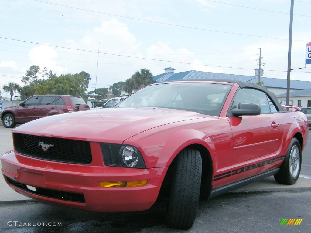 2006 Mustang V6 Premium Convertible - Redfire Metallic / Light Graphite photo #1