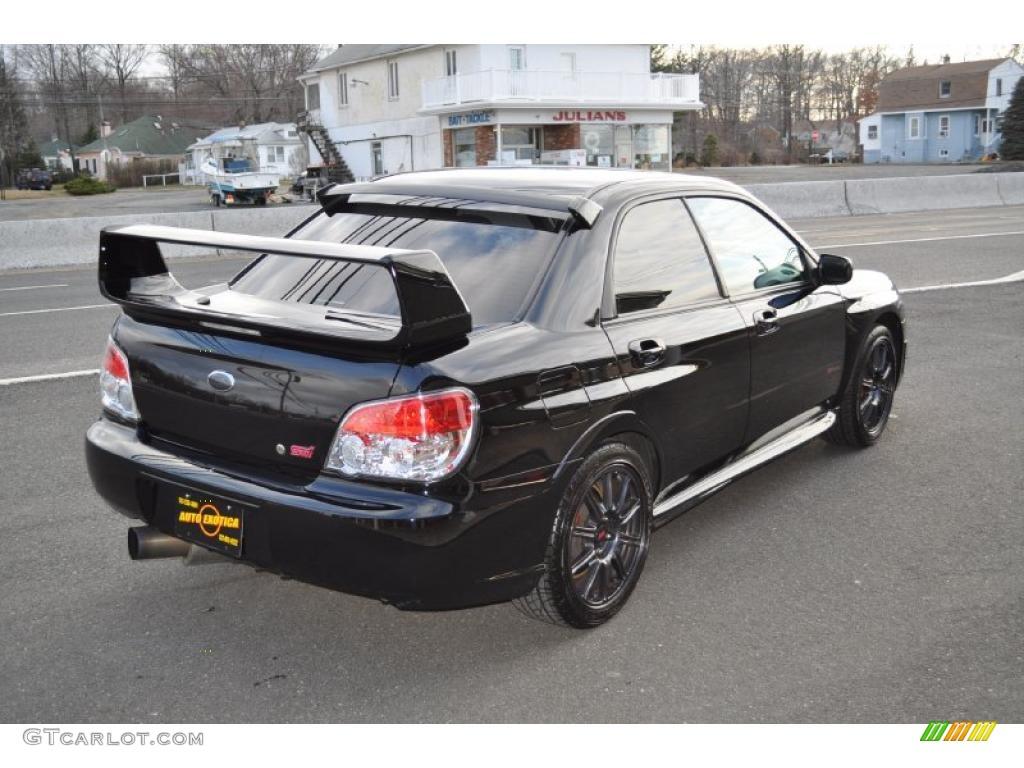 Obsidian Black Pearl 2007 Subaru Impreza Wrx Sti Exterior