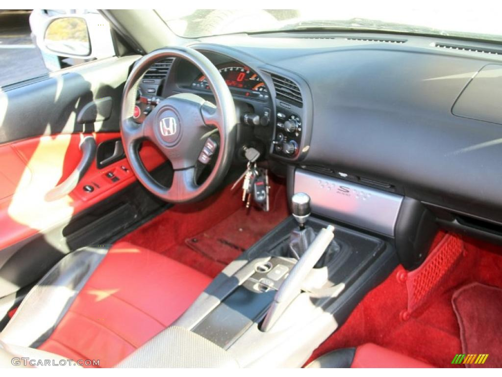 2007 Honda S2000 Roadster Black Red Dashboard Photo