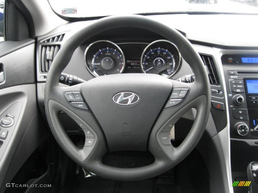 2011 Hyundai Sonata Gls Gray Dashboard Photo 46278807