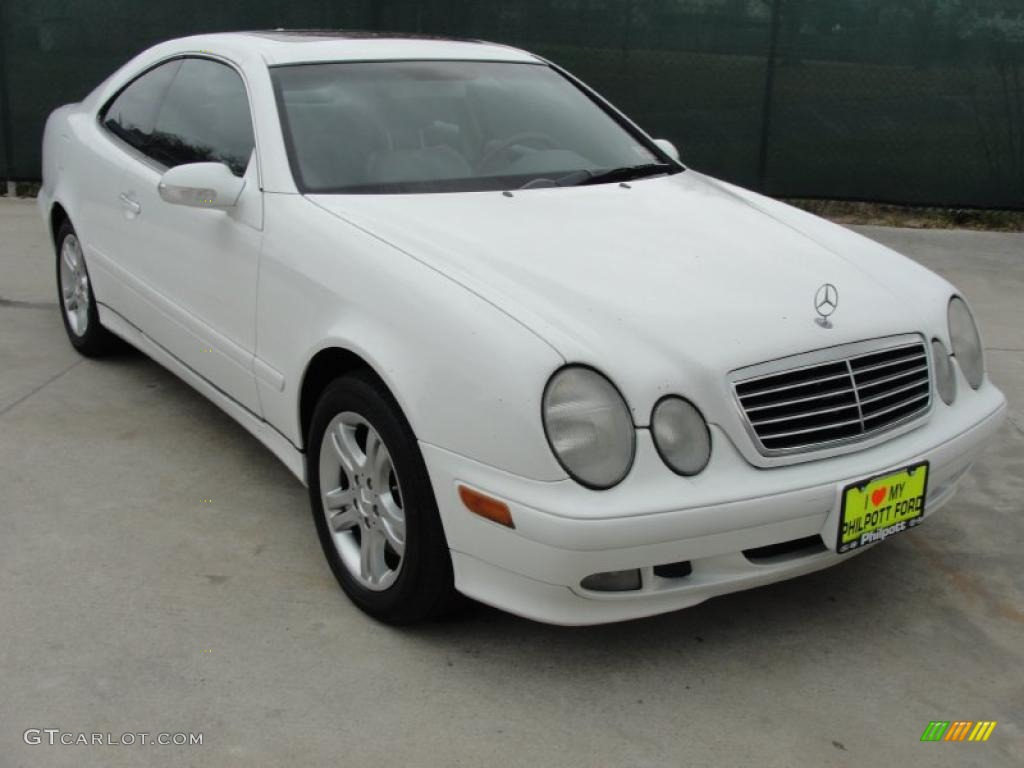 2001 glacier white mercedes benz clk 320 coupe 46244168 car color galleries. Black Bedroom Furniture Sets. Home Design Ideas
