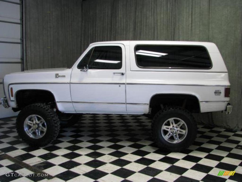 1980 White Chevrolet Blazer K5 4x4 46244216 Photo 15 Gtcarlot Com Car Color Galleries