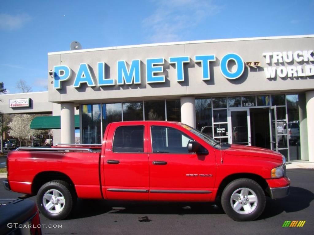 2002 Ram 1500 SLT Quad Cab - Flame Red / Taupe photo #1