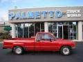 Red 1988 Toyota Pickup Deluxe Extended Cab