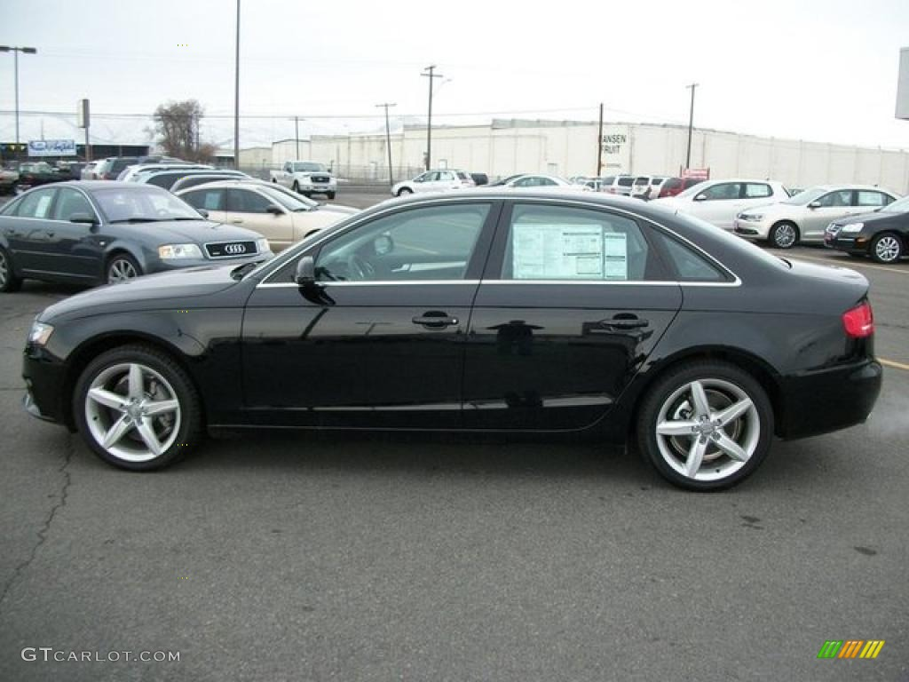 Brilliant Black 2011 Audi A4 2 0t Quattro Sedan Exterior