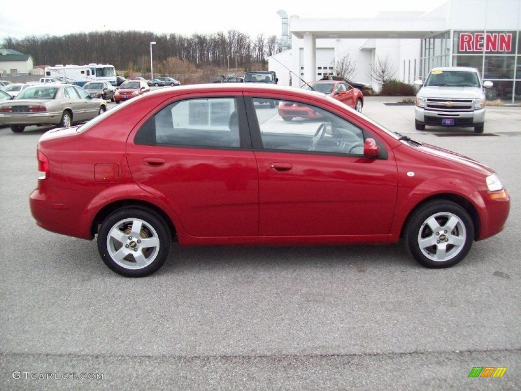 Sport Red 2006 Chevrolet Aveo LT Sedan Exterior Photo 46319253