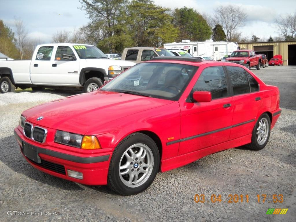 bright red 1997 bmw 3 series 328i sedan exterior photo. Black Bedroom Furniture Sets. Home Design Ideas