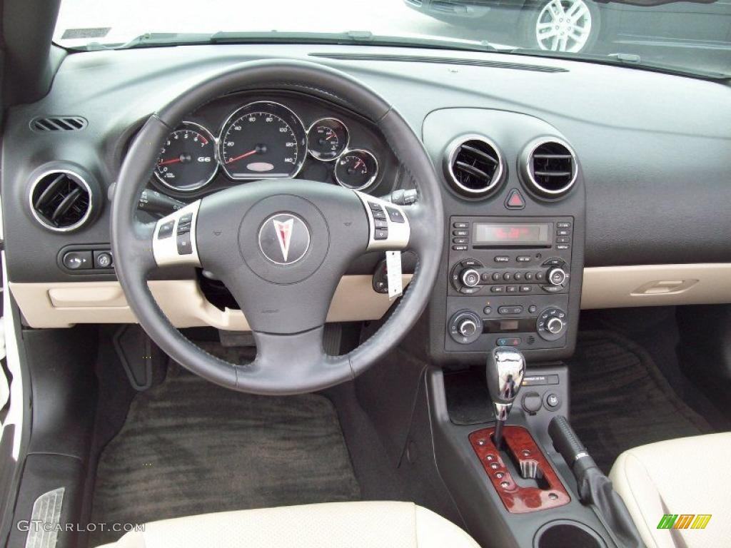 2008 Pontiac G6 Gt Convertible Light Taupe Dashboard Photo
