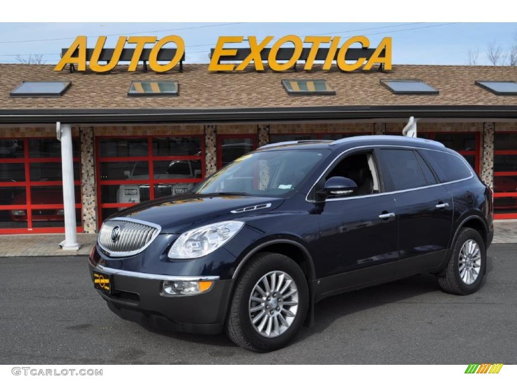 2008 Enclave CXL - Carbon Black Metallic / Ebony/Ebony photo #1