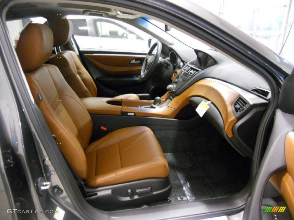 Umber Interior 2011 Acura ZDX Technology SH AWD Photo #46325610