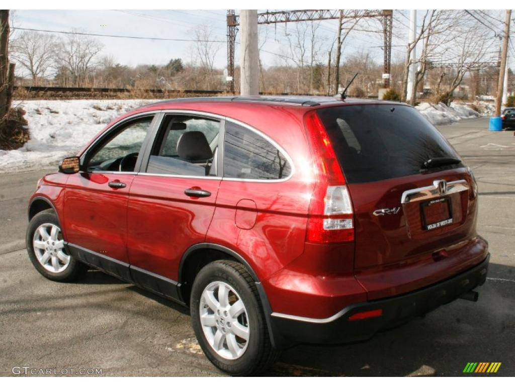 2009 CR-V EX 4WD - Tango Red Pearl / Gray photo #9