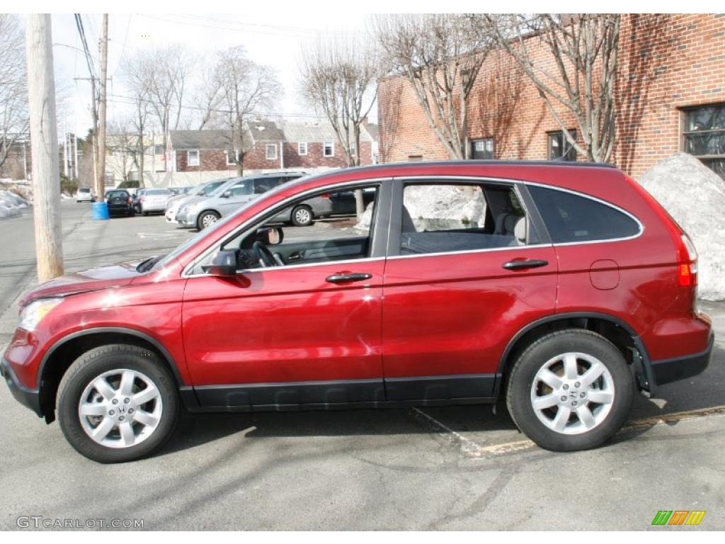 2009 CR-V EX 4WD - Tango Red Pearl / Gray photo #10