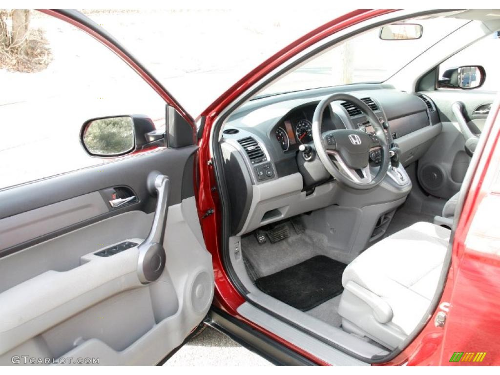 2009 CR-V EX 4WD - Tango Red Pearl / Gray photo #11