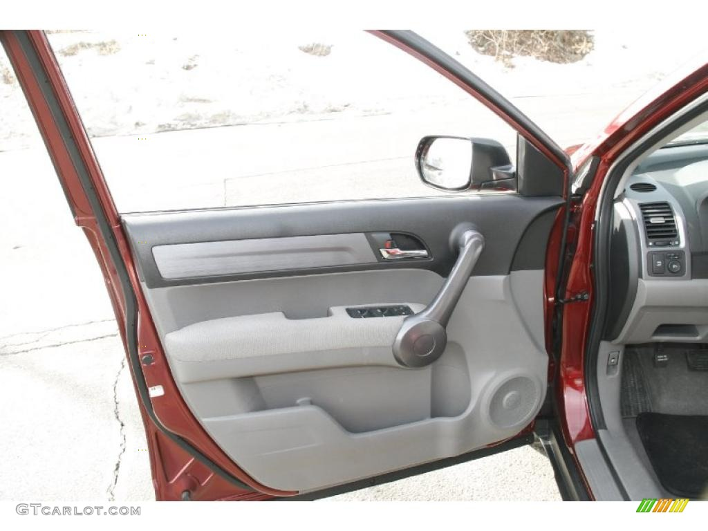 2009 CR-V EX 4WD - Tango Red Pearl / Gray photo #13