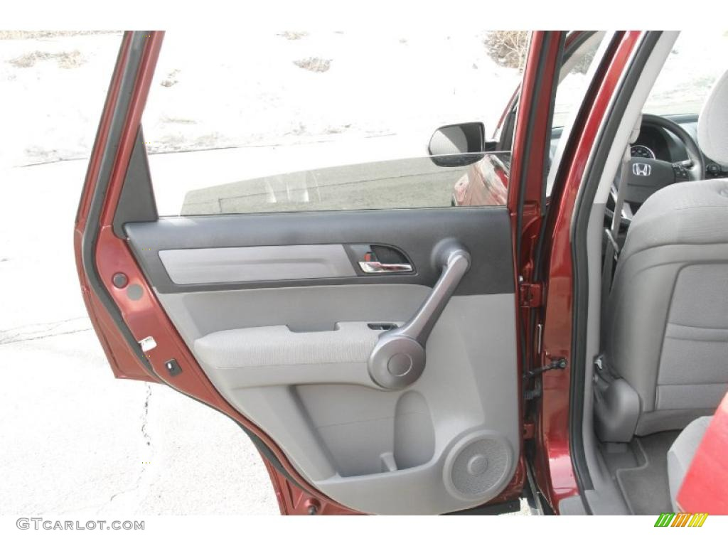 2009 CR-V EX 4WD - Tango Red Pearl / Gray photo #14