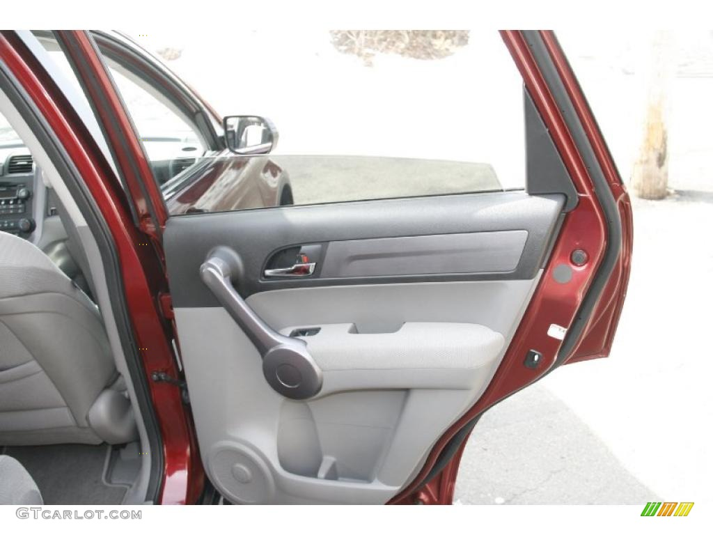 2009 CR-V EX 4WD - Tango Red Pearl / Gray photo #15