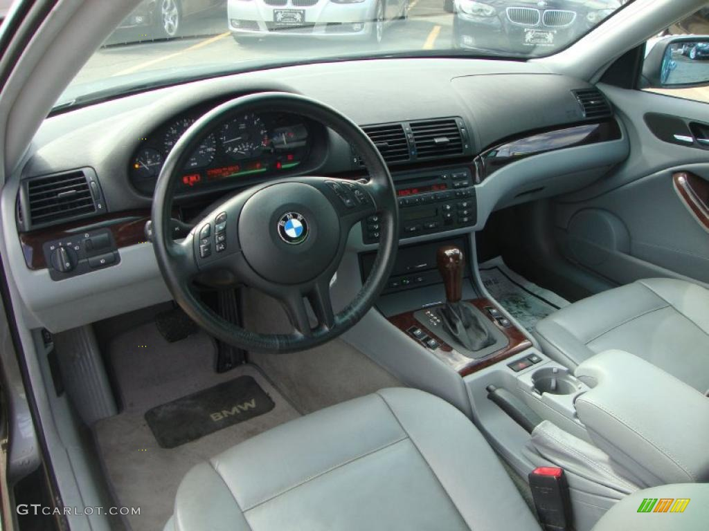 Grey Interior 2005 Bmw 3 Series 325i Coupe Photo 46330224