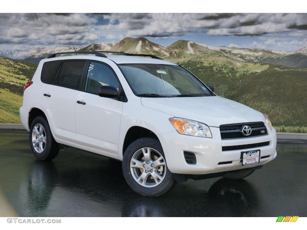 super white 2011 toyota rav4 v6 4wd exterior photo 46339608. Black Bedroom Furniture Sets. Home Design Ideas