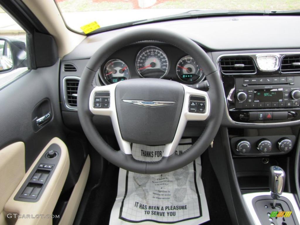 2011 chrysler 200 touring black light frost beige steering wheel photo 46343196 for 2016 chrysler 200 interior lights