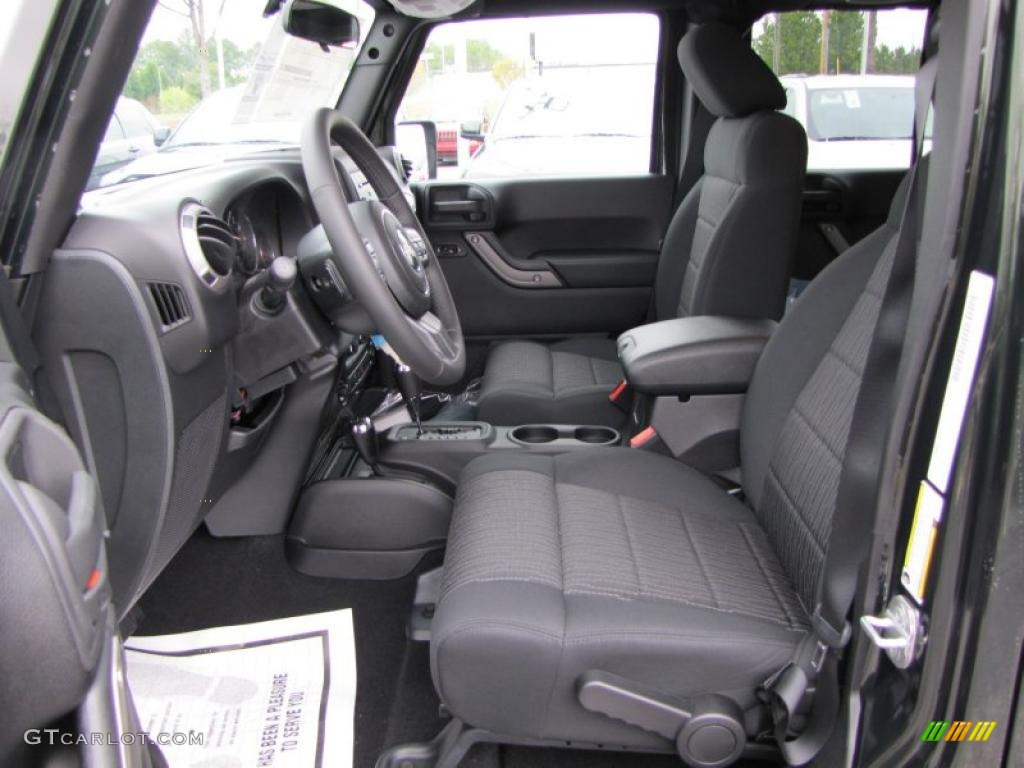Black Interior 2011 Jeep Wrangler Unlimited Sport 4x4 Photo 46343592