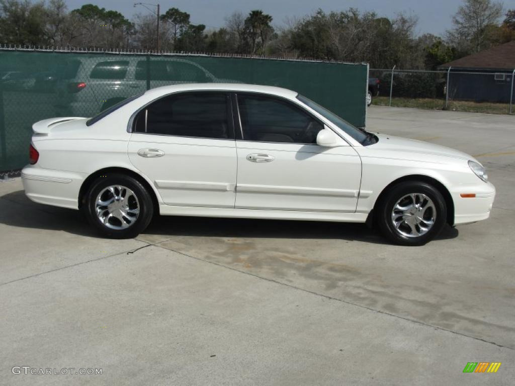 powder white pearl 2005 hyundai sonata gls v6 exterior. Black Bedroom Furniture Sets. Home Design Ideas