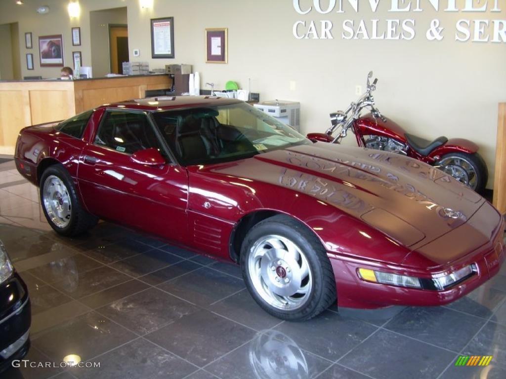 Ruby red metallic chevrolet corvette th anniversary coupe