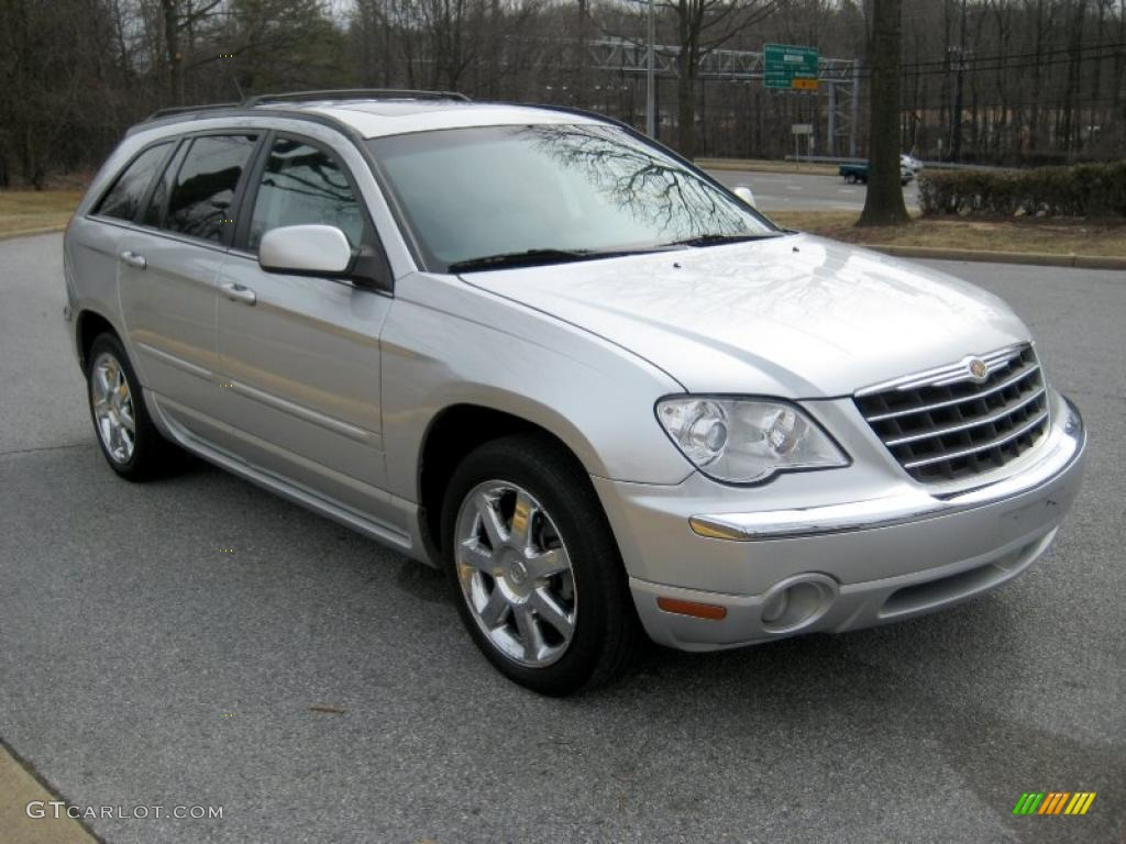 bright silver metallic 2007 chrysler pacifica limited awd. Black Bedroom Furniture Sets. Home Design Ideas