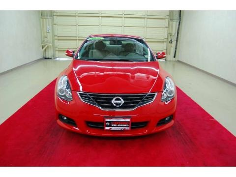 Nissan Altima 2010 Red. Red Alert Nissan Altima in