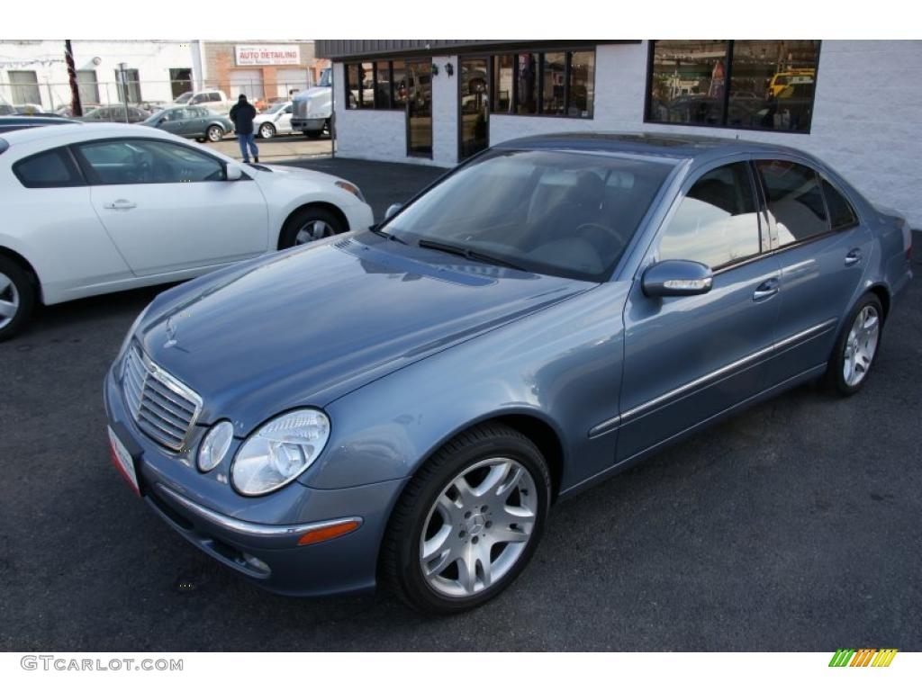 2003 platinum blue metallic mercedes benz e 500 sedan for Platinum mercedes benz