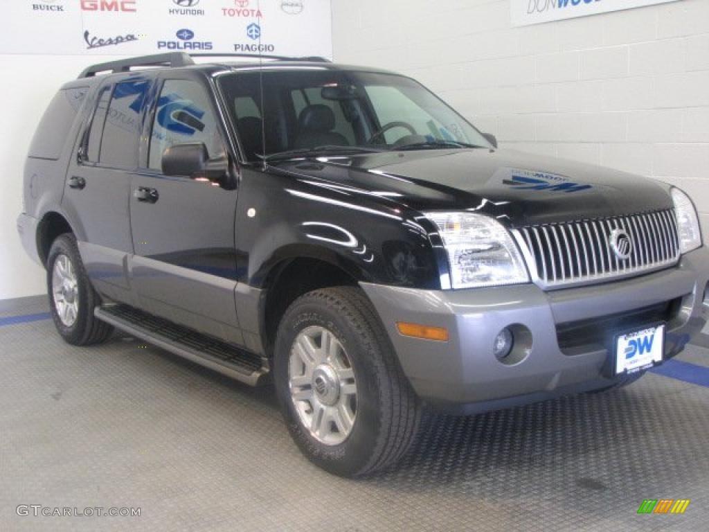 2005 Black Mercury Mountaineer V6 Awd 46345037 Gtcarlot
