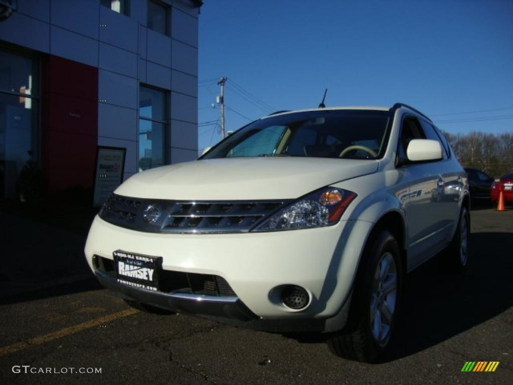 2007 Murano SE AWD - Glacier Pearl White / Cafe Latte photo #1
