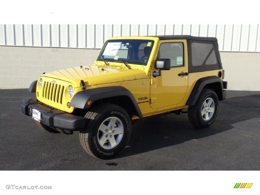 Detonator Yellow Jeep Wrangler