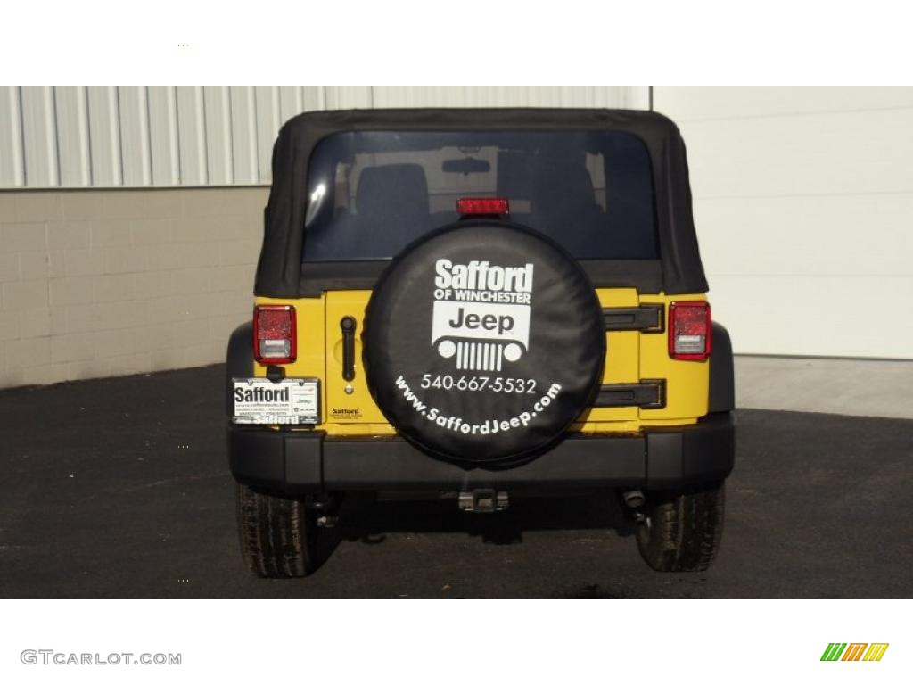 2011 Wrangler Sport S 4x4 - Detonator Yellow / Black photo #5