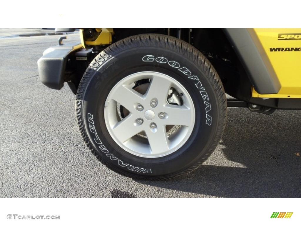 2011 Wrangler Sport S 4x4 - Detonator Yellow / Black photo #9