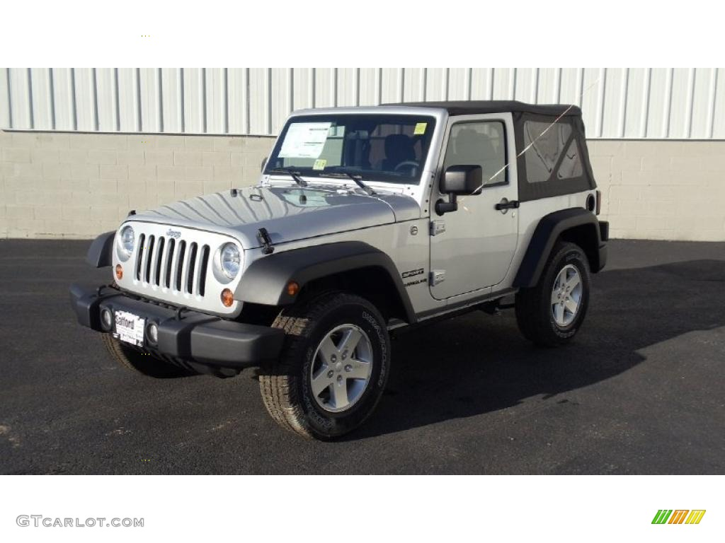 2011 Wrangler Sport S 4x4 - Bright Silver Metallic / Black photo #1