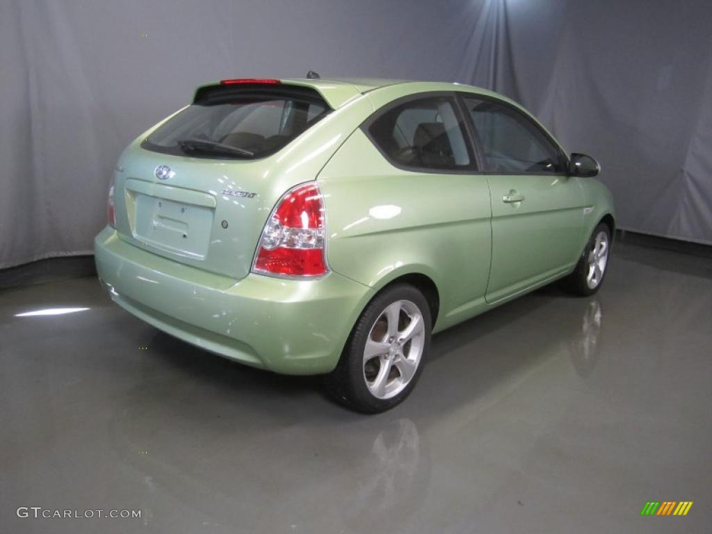 Apple Green 2007 Hyundai Accent Se Coupe Exterior Photo 46387312 Gtcarlot Com
