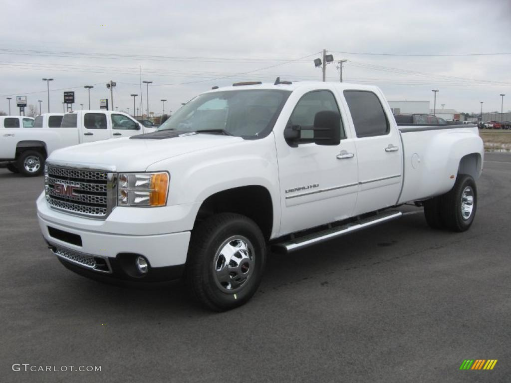 2011 GMC Sierra 3500HD Denali Crew Cab 4x4 Dually - Summit White Color ...