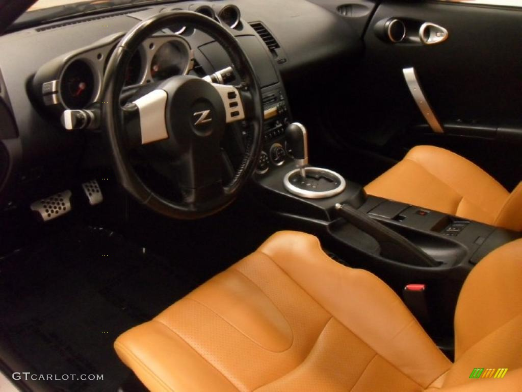 burnt orange interior 2005 nissan 350z touring coupe photo. Black Bedroom Furniture Sets. Home Design Ideas