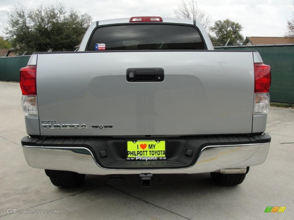 2011 Tundra Texas Edition CrewMax - Silver Sky Metallic / Graphite Gray photo #4