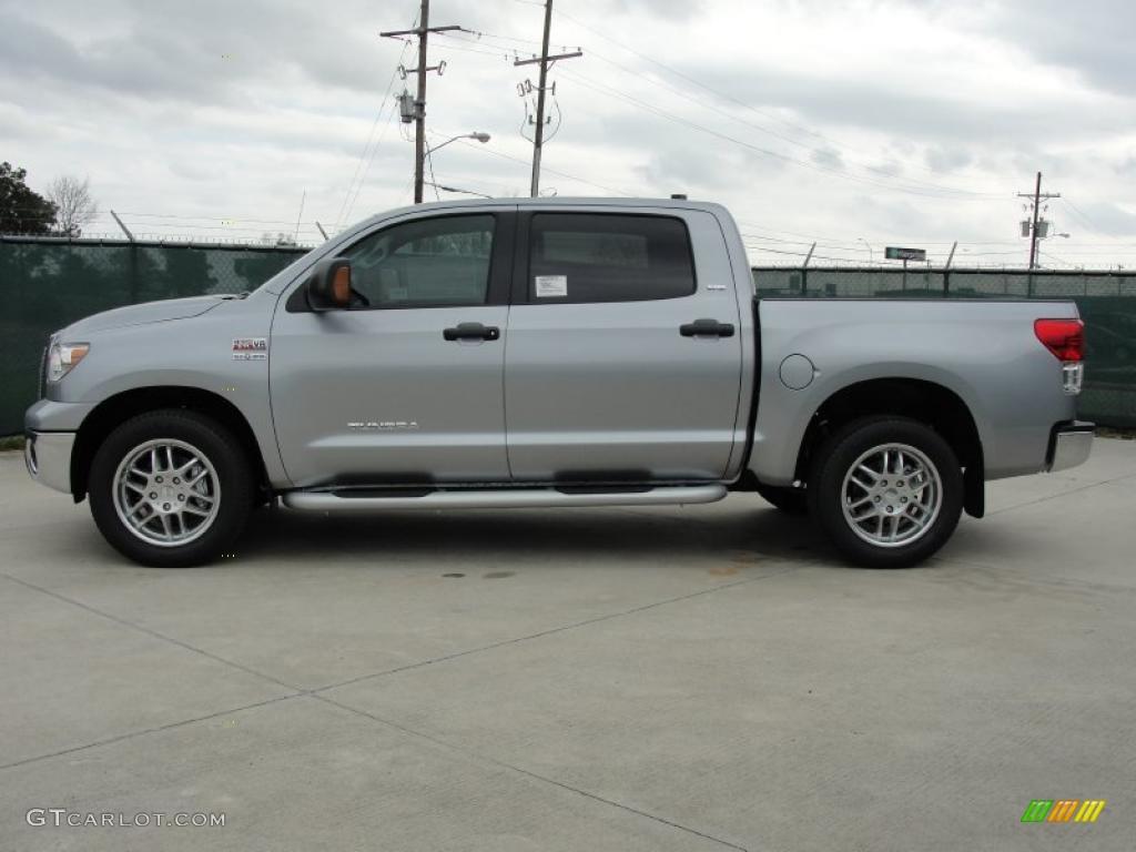 2011 Tundra Texas Edition CrewMax - Silver Sky Metallic / Graphite Gray photo #6