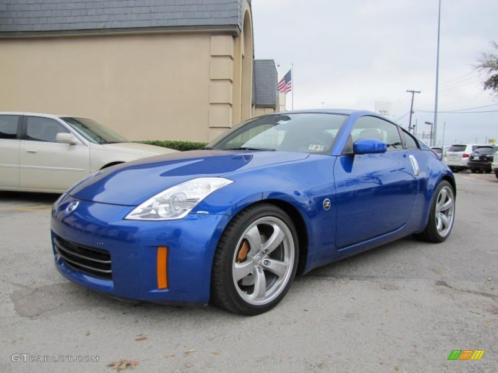 daytona blue metallic 2007 nissan 350z grand touring coupe exterior photo 46423020. Black Bedroom Furniture Sets. Home Design Ideas