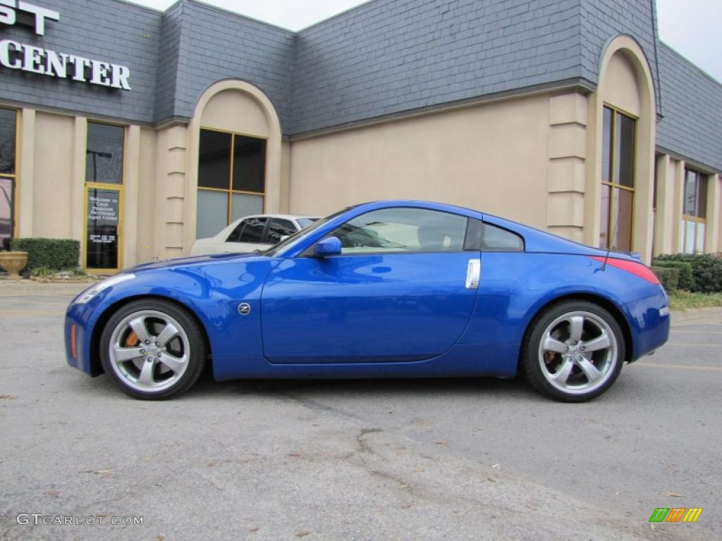 daytona blue metallic 2007 nissan 350z grand touring coupe exterior photo 46423032. Black Bedroom Furniture Sets. Home Design Ideas