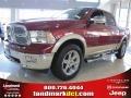 2011 Deep Cherry Red Crystal Pearl Dodge Ram 1500 Laramie Crew Cab  photo #1