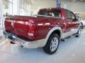 2011 Deep Cherry Red Crystal Pearl Dodge Ram 1500 Laramie Crew Cab  photo #2