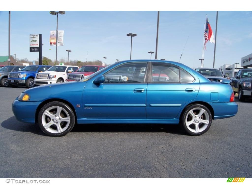 Vibrant Blue Metallic 2003 Nissan Sentra Se R Spec V