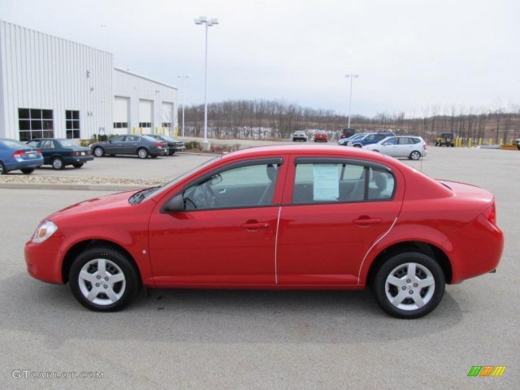 victory red 2007 chevrolet cobalt ls sedan exterior photo. Black Bedroom Furniture Sets. Home Design Ideas