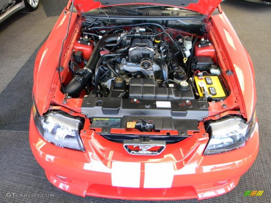 2002 Ford Mustang Roush Stage 3 Coupe 4.6 Liter Roush Supercharged SOHC 16-Valve V8 Engine Photo #46432986