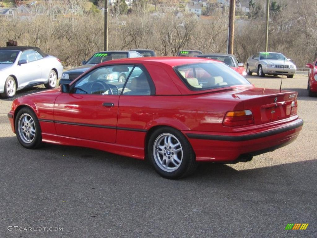 Bright red 1998 bmw 3 series 328i convertible exterior photo 46443607